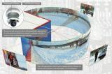 Схема размещения камеры автоматического слежения на фасаде ангара